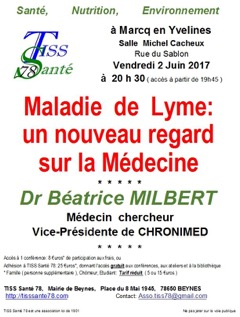 Conférence du Dr Milbert (CHRONIMED) @ Salle Michel Cacheux | Marcq | Île-de-France | France