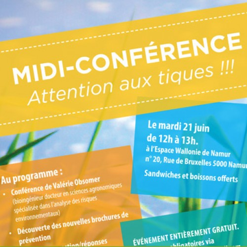 MIDI-CONFERENCE Attention aux tiques !