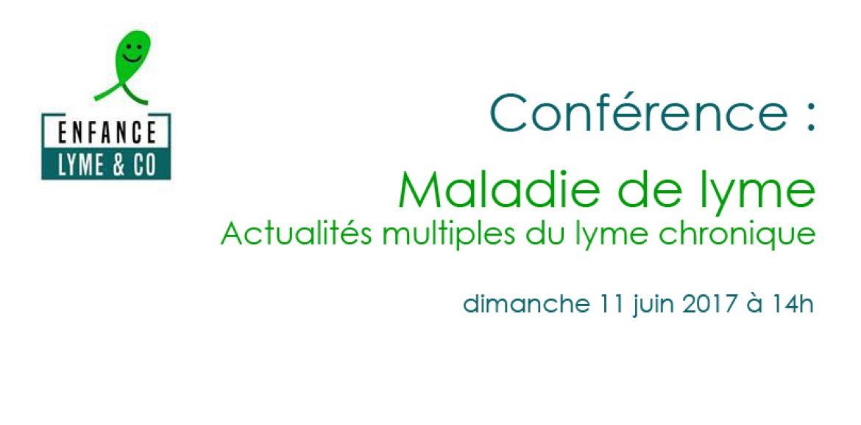 Conférence organisée par l'association « Enfance et Lyme & co » le 11 juin à14h à Pont Ste Marie (10)