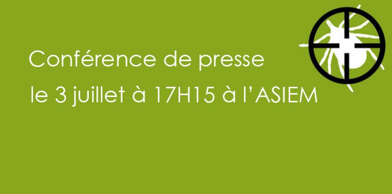 Conférence de presse le 3 juillet à 17H15 à l'ASIEM