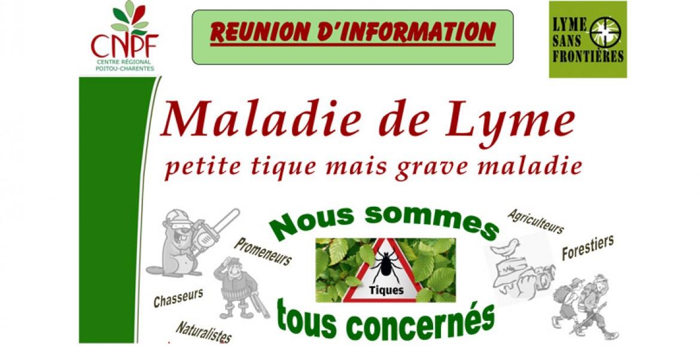 Réunion d'information Maladie de Lyme à Roches Prémarie (86)