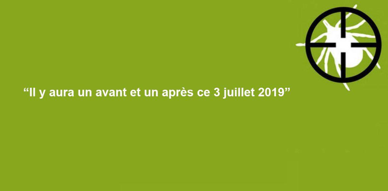 Communiqué de Presse n°1/2019 du 17 juin du Mouvement Ensemble Contre Lyme pour l'Appel au Rassemblement national citoyen Pacifique du 3 juillet 2019