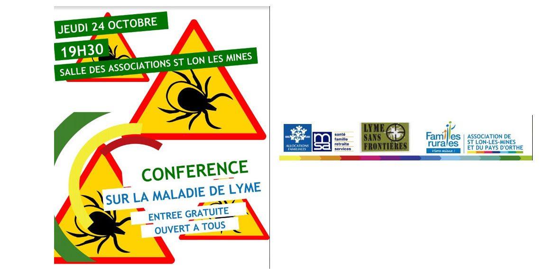 CONFÉRENCE MALADIE DE LYME jeudi 24 octobre 2019 à 19h30 St Lon Les Mines 40300