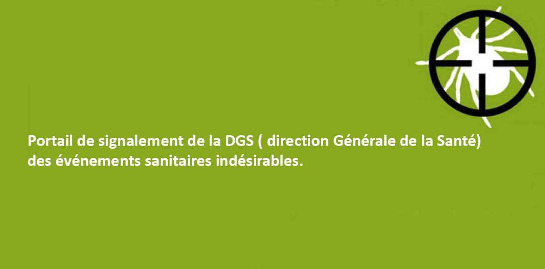 Portail de signalement de la DGS