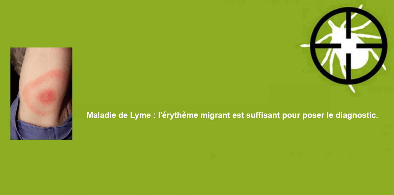 Maladie de Lyme : l'érythème migrant est suffisant pour poser le diagnostic