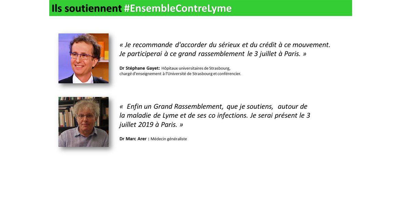 Ils soutiennent #EnsembleContreLyme: le Dr Stéphane Gayet et le Docteur Marc Arer seront présents au grand rassemblement Pacifique mercredi 3 juillet 2019
