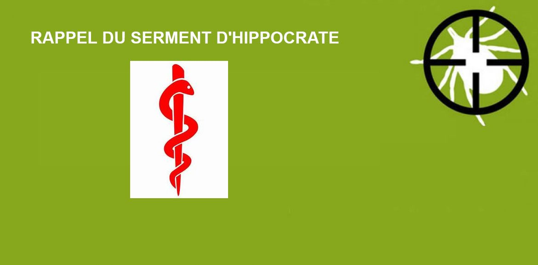 RAPPEL DU SERMENT D'HIPPOCRATE