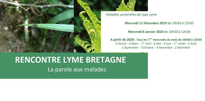 RENCONTRE LYME BRETAGNE-La parole aux malades-1er mercredi de chaque mois-Rennes(35)