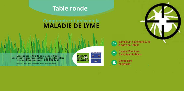 Table ronde à St Jean le Blanc Loiret(45) Salle Montission 24 novembre 2018  14 h 30  – 18 h 00