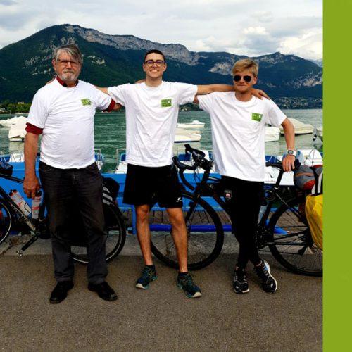 VENDREDI 17 JUILLET à 19H : Arrivée et rencontre avec l'équipe GREEN LYME TOUR à EVIAN-Les-BAINS (74)