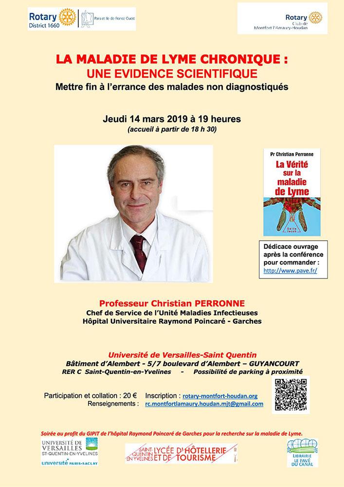 Conférence du Pr Perronne à l'Université de Versailles St Quentin (78) @ Université de Versailles St Quentin