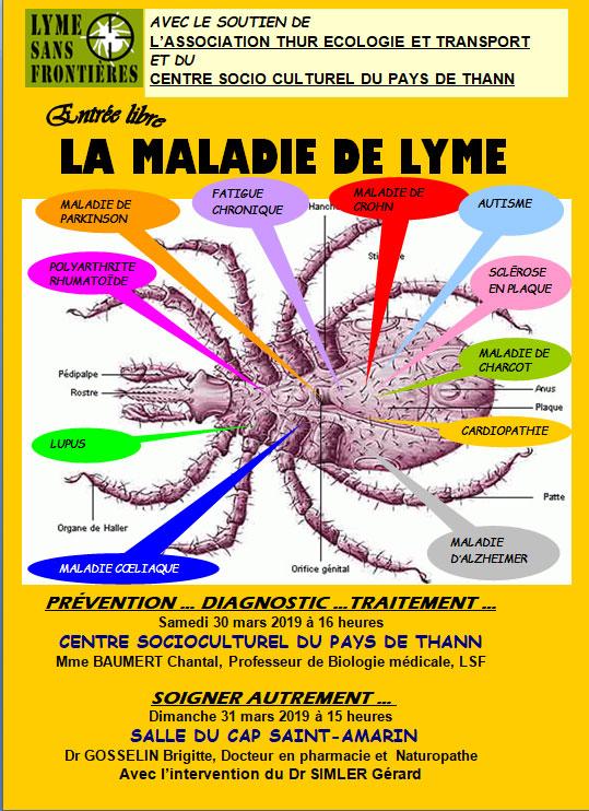 Conférences maladie de Lyme à Thann (68) @ Centre socio culturel