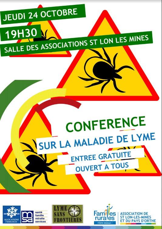 CONFÉRENCE MALADIE DE LYME St Lon Les Mines 40300 @ salle des associations