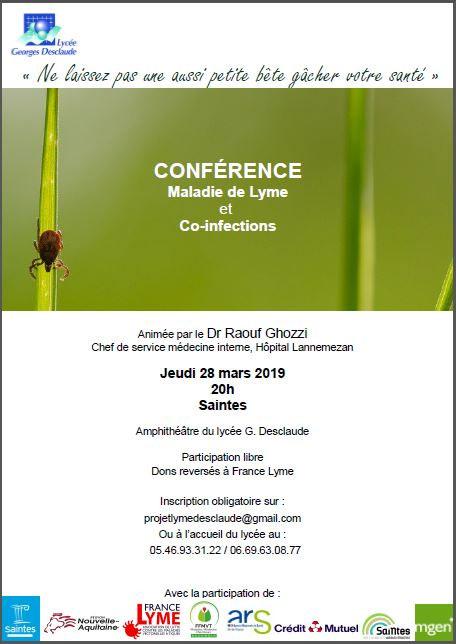 Conférence du Dr Raouf GHOZZI à SAINTES (17) @ Amphithéâtre du lycée Desclaude