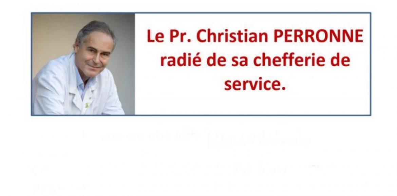Le Pr Christian PERRONNE radié de sa chefferie de service – 17/12/2020