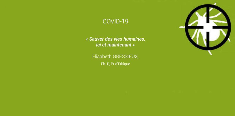Regard d'une éthicienne sur la crise actuelle du Covid-19