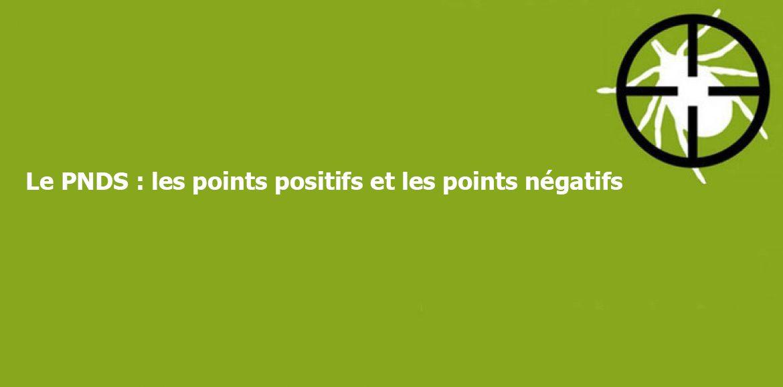 Le PNDS : les points positifs et les points négatifs